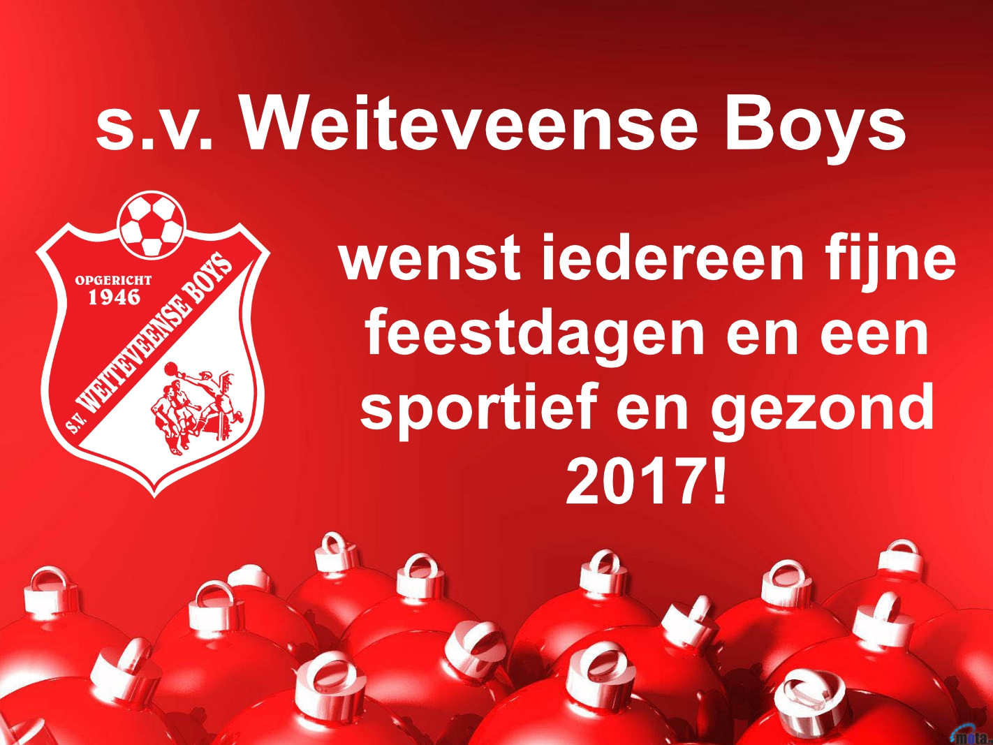 Kerst En Nieuwjaarswens S V Weiteveense Boys